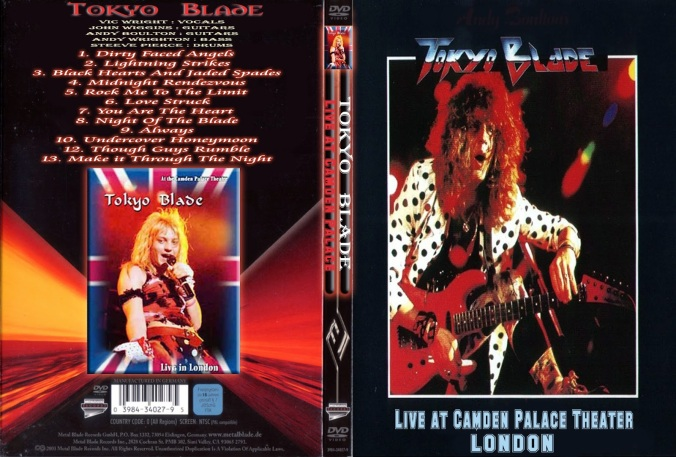 Tokyo Blade - Live At Camden Palace Theater London - Cover