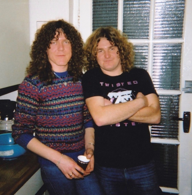 John with guitarist Janik Gers 1982.
