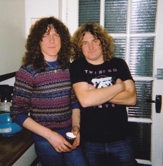 John with guitarist Janik Gers 1982.