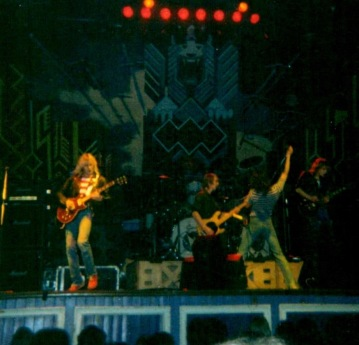 Girl supporting UFO Newcastle City Hall 1979.