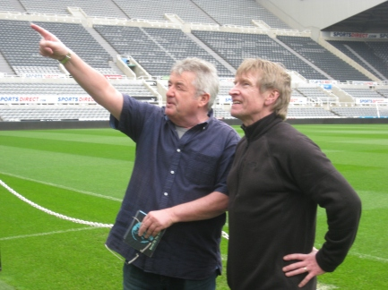 Rob Byron with Alan in St James' Park.