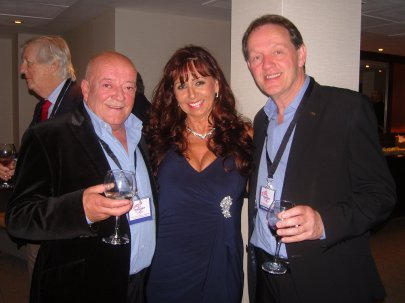Lesley with cast members Tim Healy and Kevin Whately