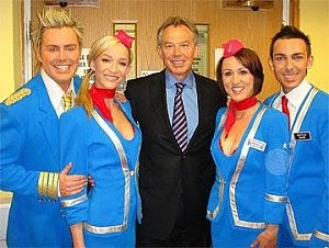 Meeting Tony Blair at the TV studios.