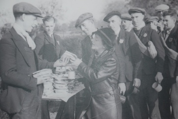 Ellen feeding the Jarrow Marchers on route to London October 1936.
