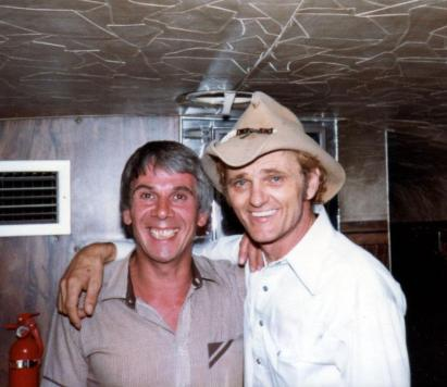Stan with Jerry Reed - Douglasville, Georgia in 1982.