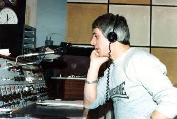 Stan Laundon at BBC Radio Cleveland in the 1970's.