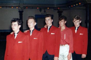 The Trakkers - Stan Laundon, Billy Crallan, Les Marine, Charle McKie and Alan Lindridge. Hartlepool Town Hall, November 1961.