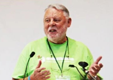 Former political prisoner Terry Waite speaking at a conference in South Shields.