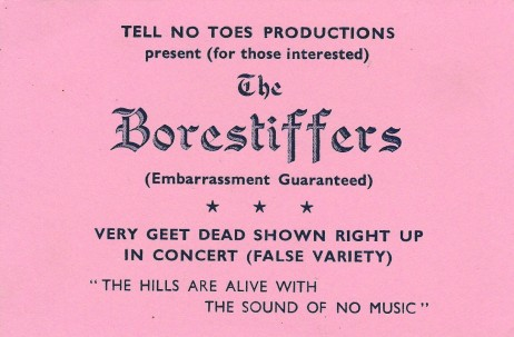 Borestiffers ticket
