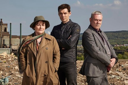 From ITV Studios VERA SR9 Episode 1 Pictured: BRENDA BLETHYN as DCI Vera Stanhope, KENNY DOUGHTY as DS Aiden Healy and JON MORRIS as DC Kenny Lockhart. This photograph is (C) ITV Plc and can only be reproduced for editorial purposes directly in connection with the programme or event mentioned above. Once made available by ITV plc Picture Desk, this photograph can be reproduced once only up until the transmission [TX] date and no reproduction fee will be charged. Any subsequent usage may incur a fee. This photograph must not be manipulated [excluding basic cropping] in a manner which alters the visual appearance of the person photographed deemed detrimental or inappropriate by ITV plc Picture Desk. This photograph must not be syndicated to any other company, publication or website, or permanently archived, without the express written permission of ITV Plc Picture Desk. Full Terms and conditions are available on the website www.itv.com/presscentre/itvpictures For further information please contact: Patrick.smith@itv.com 0207 1573044