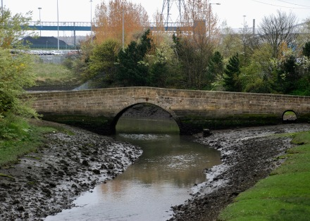 The old Don bridge, East Jarrow. The Don leads to the river Tyne.