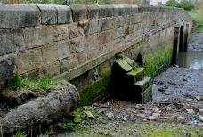 The gas pipe on the old Don bridge, East Jarrow.