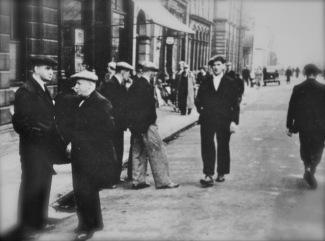 Unemployed men in Jarrow.
