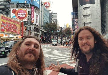 With Gav Gray in Tokyo.