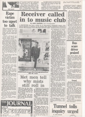 The Journal report on Dingwalls closing in 1983.