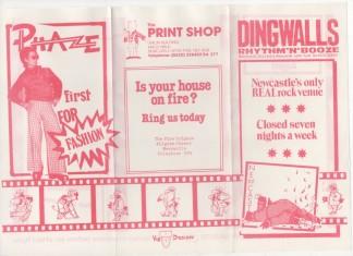 Dingwalls Last Programme.